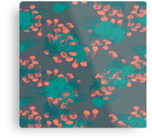 Medusa / Crazy Jellyfish Blue Atoll Metal Print