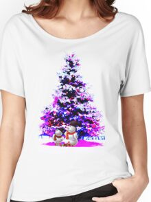 christmast tree and olaf Women's Relaxed Fit T-Shirt