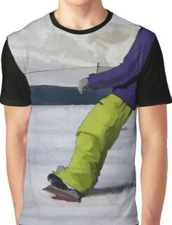 Snowboarder Finishing Stop Graphic T-Shirt