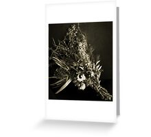 Dried Flowers Black and White Greeting Card