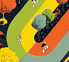 Bicycle race by Sam Brewster