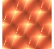 Fractal Orange Star Photographic Print