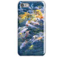 frenetic fish, koi food fight iPhone Case/Skin