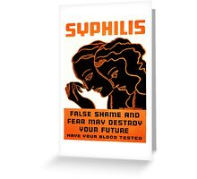 Vintage poster - Syphilis Greeting Card