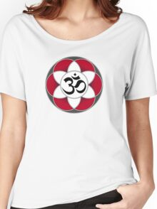 Aum Seed of Life Red Women's Relaxed Fit T-Shirt