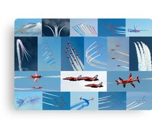 Red Arrows 2014 - 50 Display Seasons Canvas Print