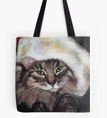 Tara with Santa Hat Tote Bag