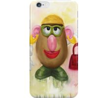 Mrs Potato Head - she's found her eyes! iPhone Case/Skin