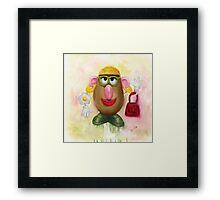 Mrs Potato Head - she's found her eyes! Framed Print