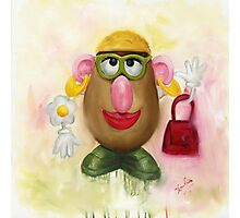 Mrs Potato Head - she's found her eyes! Photographic Print