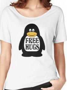 Hugs the Penguin Women's Relaxed Fit T-Shirt