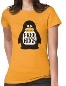 Hugs the Penguin Womens Fitted T-Shirt