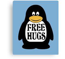 Hugs the Penguin Canvas Print
