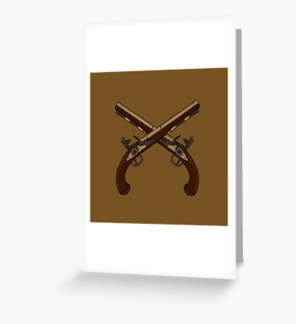 Flintlock Pistols Greeting Card