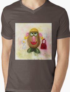 Mrs Potato Head - she's found her eyes! Mens V-Neck T-Shirt