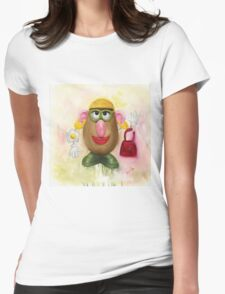 Mrs Potato Head - she's found her eyes! Womens Fitted T-Shirt