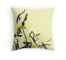 Abstract: Organic Blossom Throw Pillow