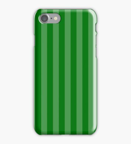 Large Faded Two Tone Christmas Green Cabana Tent Stripe iPhone Case/Skin