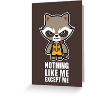 Talking Raccoon Greeting Card