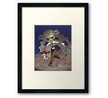 Steampunk Time Traveler Framed Print
