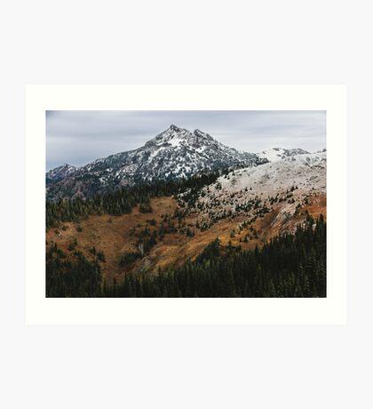 Hurricane Ridge In Autumn With Snow Art Print