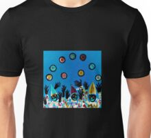 What Wonderful Worlds - Clowns with Many and Strange Hands - Dark Unisex T-Shirt