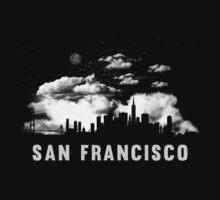 San Francisco California Skyline Cityscape Kids Tee