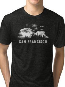 San Francisco California Skyline Cityscape Tri-blend T-Shirt