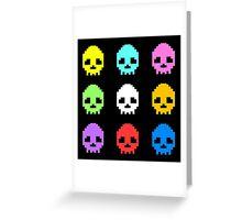 8-bit Skulls retro cool design Greeting Card