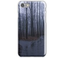 Forest foggy day iPhone Case/Skin