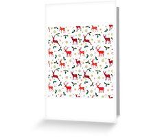 Christmas pattern deer red Greeting Card