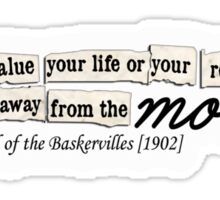 Letter to Sir Henry. - The Hound of the Baskervilles Sticker