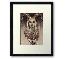 Zodiac Capricorn Framed Print