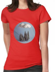 A cloud over the forest Womens Fitted T-Shirt