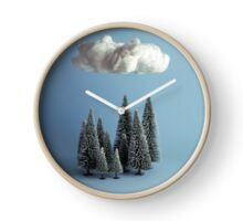 A cloud over the forest Clock