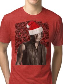 DARYL DIXON'S ASS KICKING CHRISTMAS  Tri-blend T-Shirt