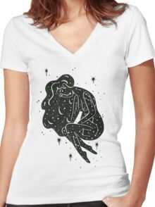Star Mama Women's Fitted V-Neck T-Shirt