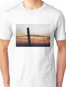 Old 32 Barbed Wire Fence Unisex T-Shirt