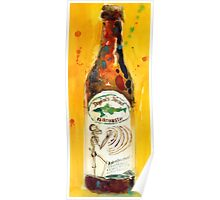 Dogfish Head namaste Beer Watercolor - Perfect for man cave  Poster