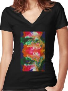 Another Bloom Women's Fitted V-Neck T-Shirt
