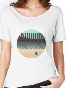 Rubik shading in the beach Women's Relaxed Fit T-Shirt