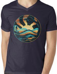 Watching the Dawn Mens V-Neck T-Shirt