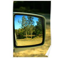 Car Mirror Reflection Poster