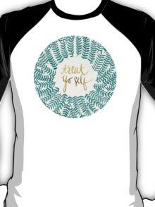 Treat Yo Self – Gold & Turquoise T-Shirt