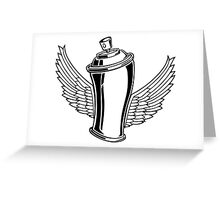 Spray Wings Greeting Card