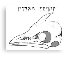 Cliff Racer Skull Metal Print