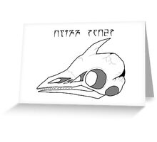 Cliff Racer Skull Greeting Card