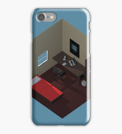 Isometric Bedroom iPhone Case/Skin