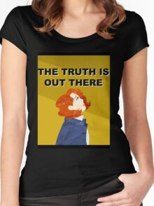 X-Files - Scully Women's Fitted Scoop T-Shirt