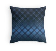 Blue background with diagonal stripes . Throw Pillow